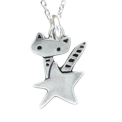 Rocket Cat Charm Necklace