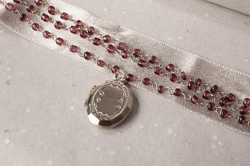 Amethyst Locket Necklace