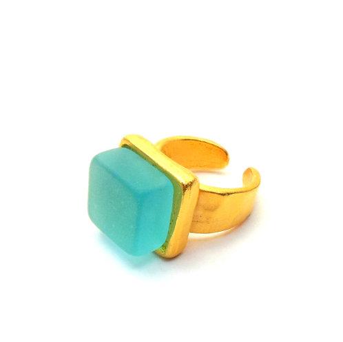 Cube Ring, Bombay Sapphire