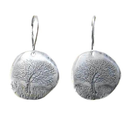 Oak Tree Impression Earrings