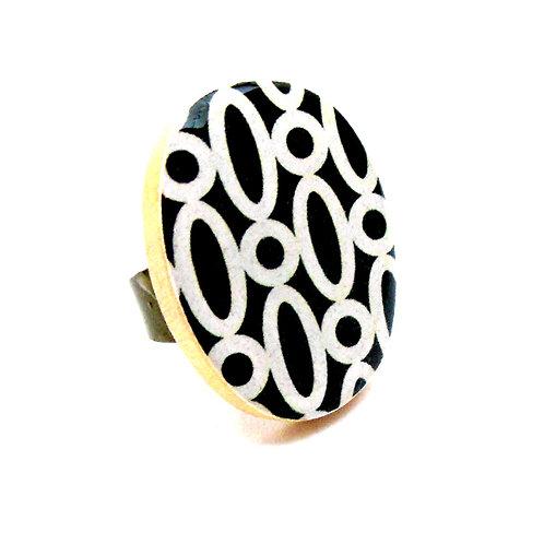Black & White Cocktail Ring