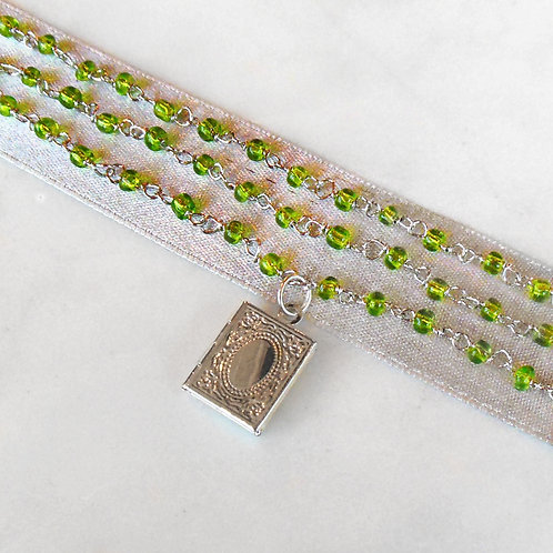 Peridot Locket Necklace