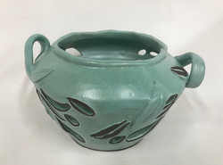 Wide Green Cutout vessel