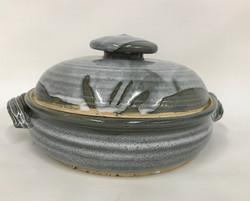 Gray casserole dish