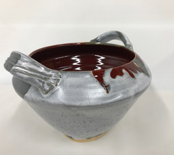 Tapered Bowl Red and Gray