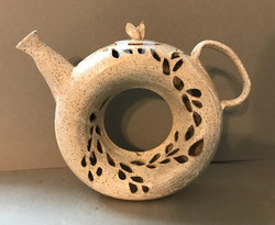 Cut Out Donut Teapot