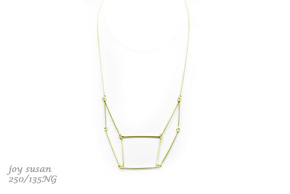 Matte Gold Geometric Necklace