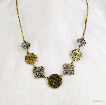 Two Tone Filigree Necklace
