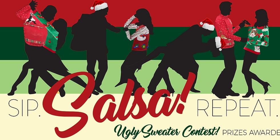 Ugly Christmas Sweater Salsa Night!