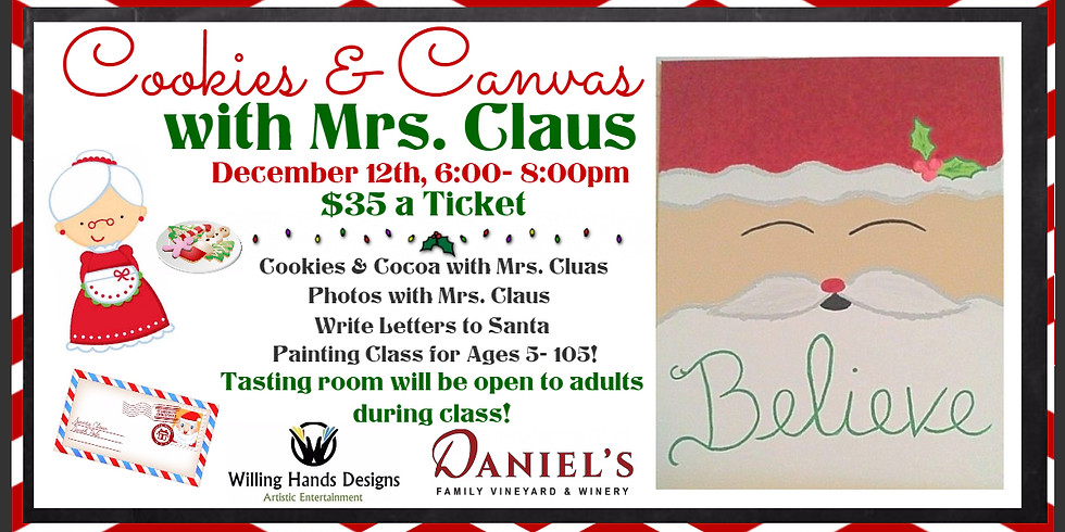 Cookies & Canvas with Mrs. Claus!