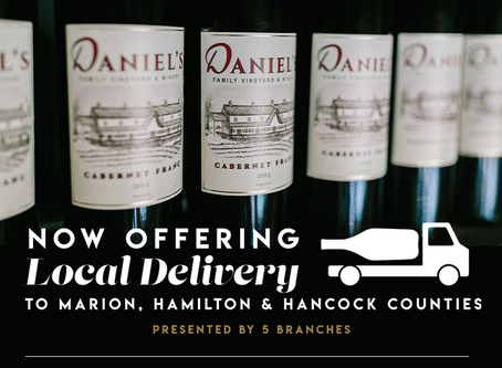 NOW OFFERING Delivery! Wine, Beer & Spirits!