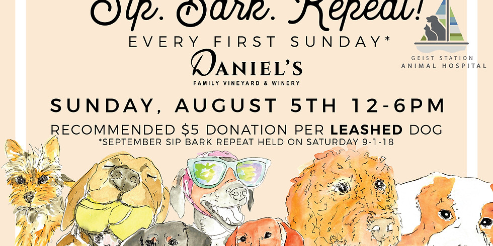 SIP. BARK. REPEAT. with Love on a Leash!