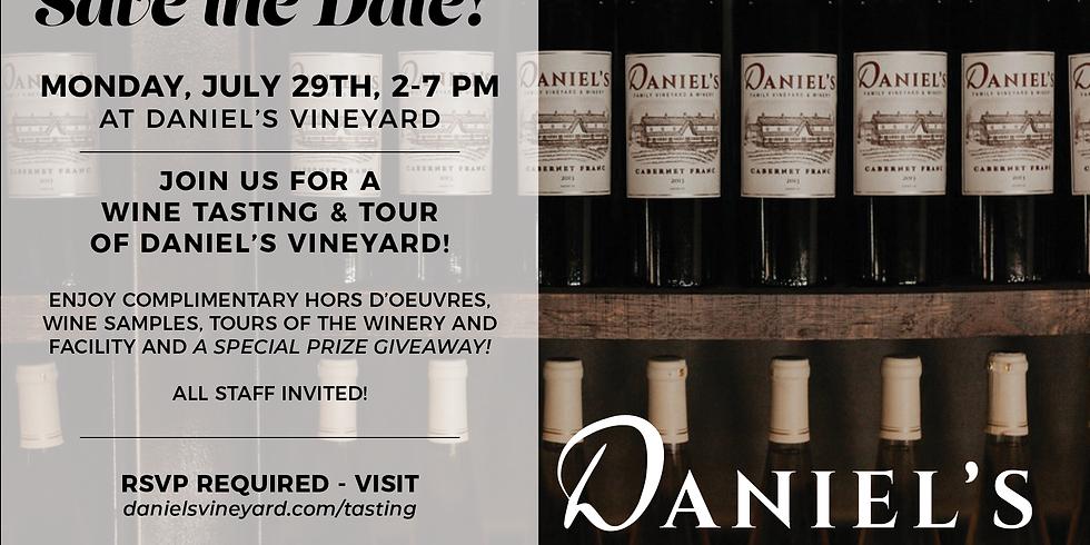 Daniel's Vineyard Tasting & Tour