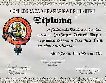Official Certificate of Promtion to 3rd Degree Black Belt in 1995
