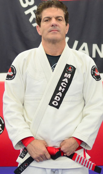Master Jean Jacques Machado was promoted to Coral Belt by Rickson Gracie in 2011 representng 25 years of active Black Belt status