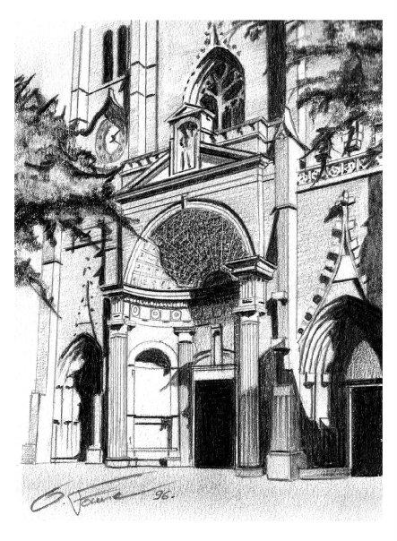 Entrée d'une cathédrale