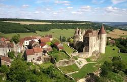 Vue aérienne de Châteauneuf-en-Auxois