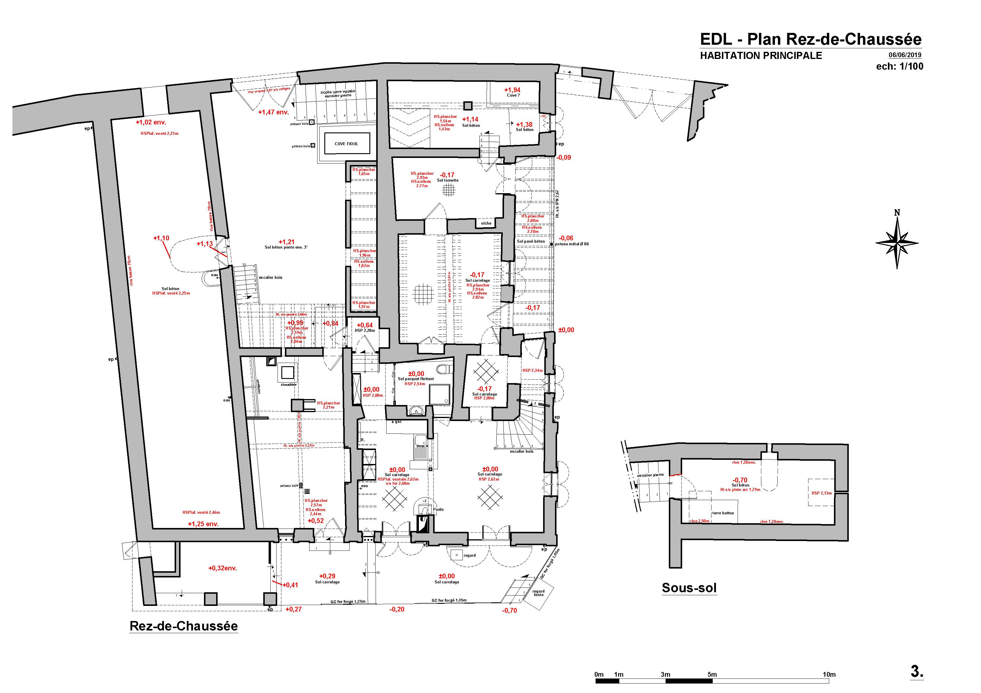 Plan Rez-de-Chausée - EDL