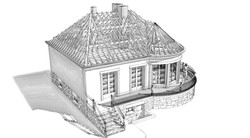 Perspective 3D extérieure - EDL - Charpente