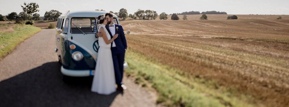 Vintage Hochzeit Bulli mieten