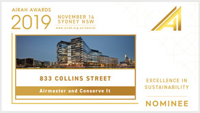 PlantPRO deployment at ANZ Centre 833 Collins St, Melbourne named as finalist at 2019 AIRAH Awards