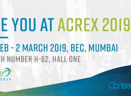 Conserve It to exhibit at Acrex India 2019