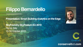 Conserve It's Filippo Bernardello to present at SkyFoundry SkyPosium EU 2019