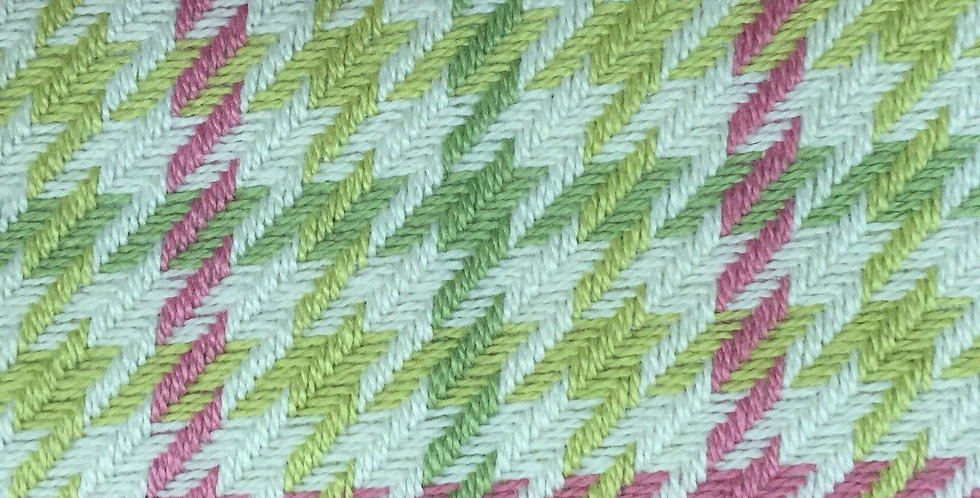 Houndstooth Pink and Green