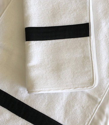 Micro/Cotton Hand Towel |  Black