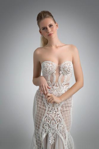 Angel Rivera Bridal Gown Inez Front Detail