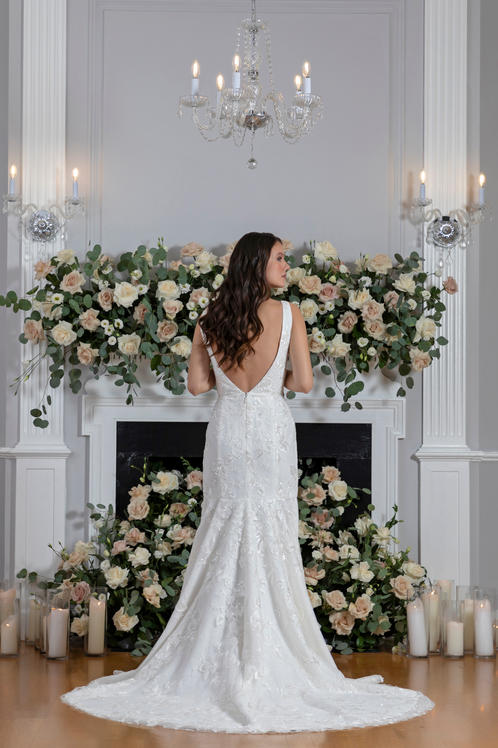 I Do bridal gown back
