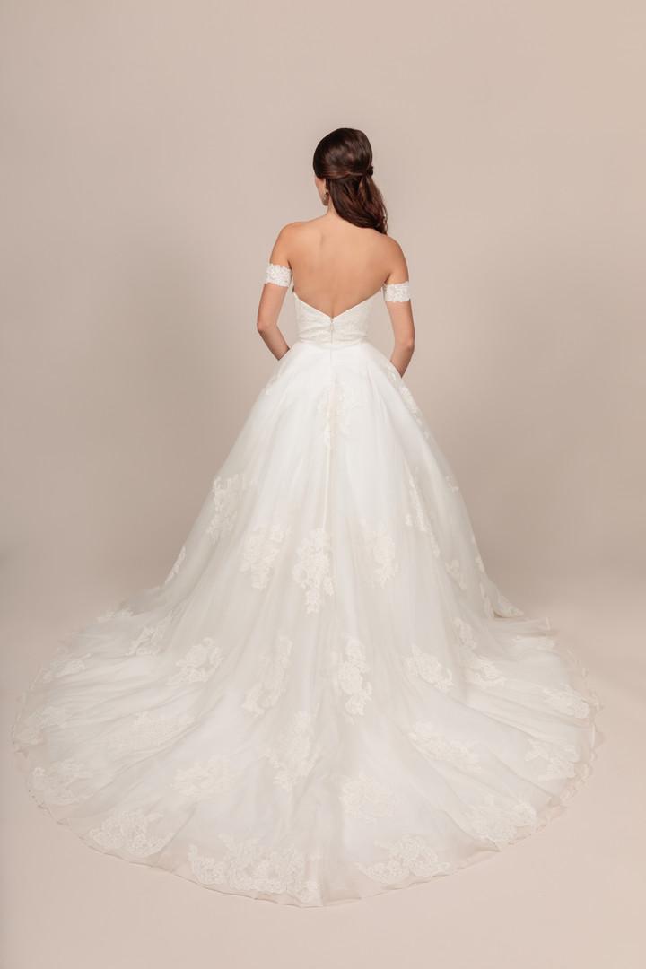 Angel Rivera bridal gown Lovely back