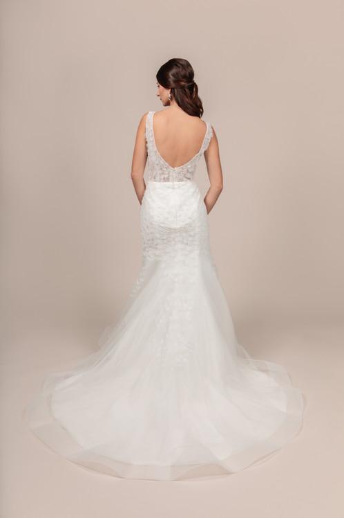 Angel Rivera bridal gown Eternity back