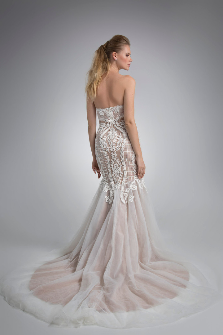 Angel Rivera Bridal Gown Inez back Detail