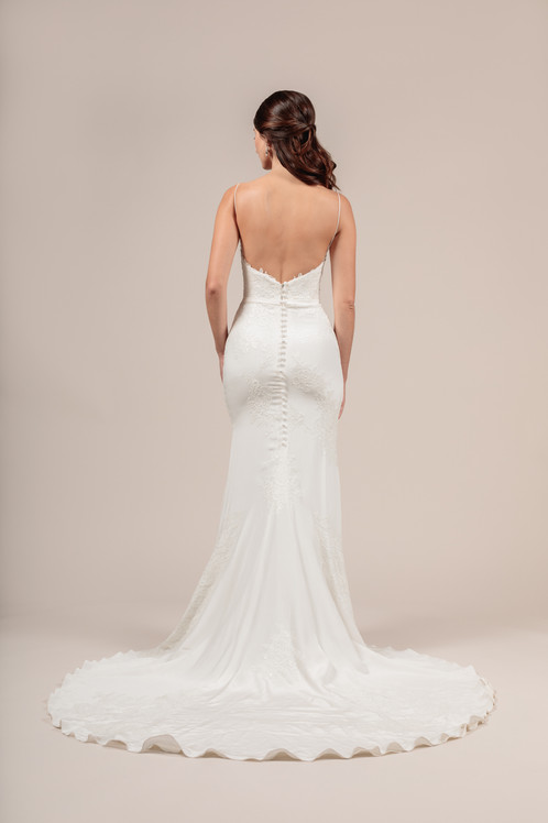 Angel Rivera Bridal Gown Beautiful Back