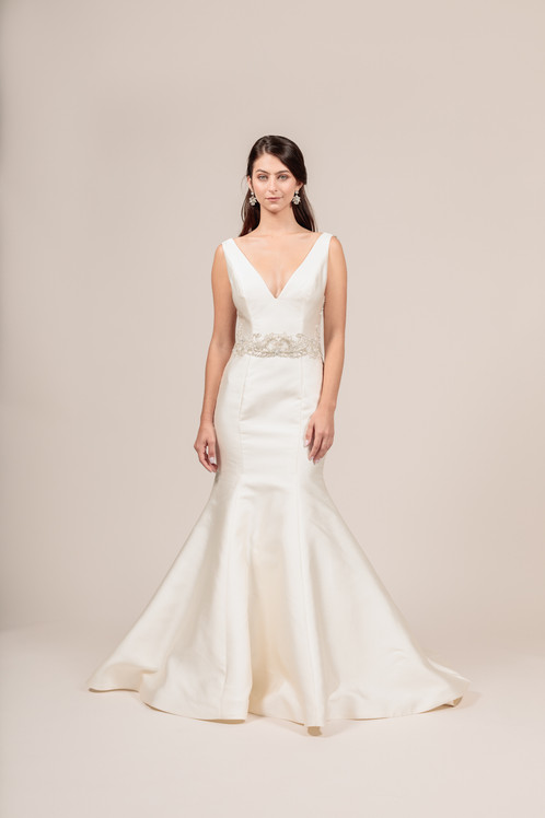 Angel Rivera Bridal Gown Sophisticated Full Detail