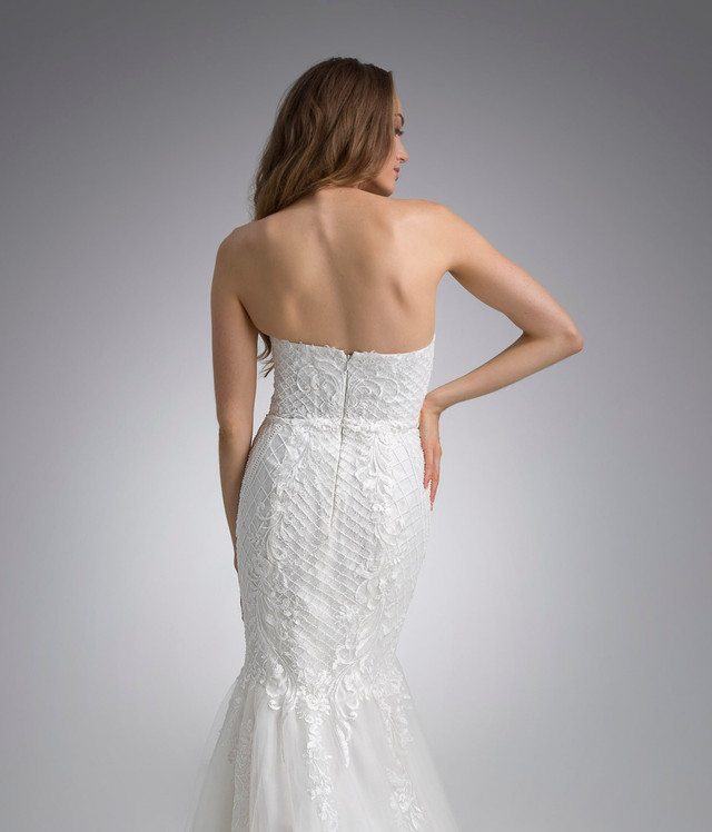 Flores Collection by Angel Rivera Bridal Gown Blanca back detail
