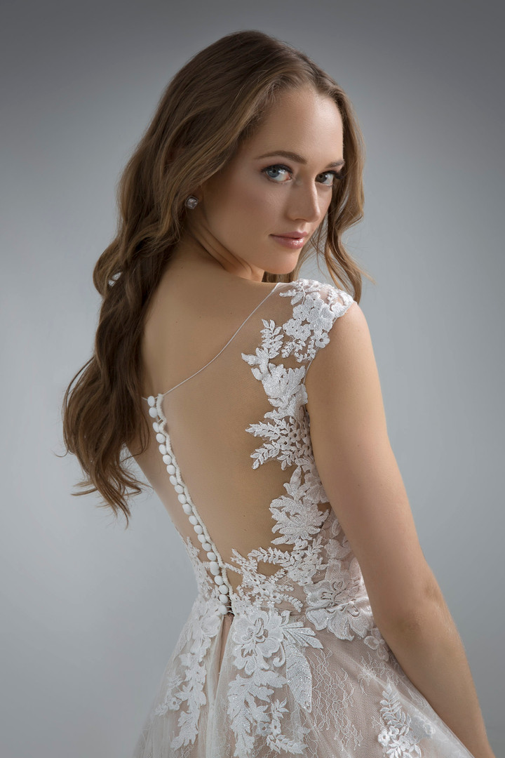 Flores Collection by Angel Rivera Bridal Gown Carolina Back Detail