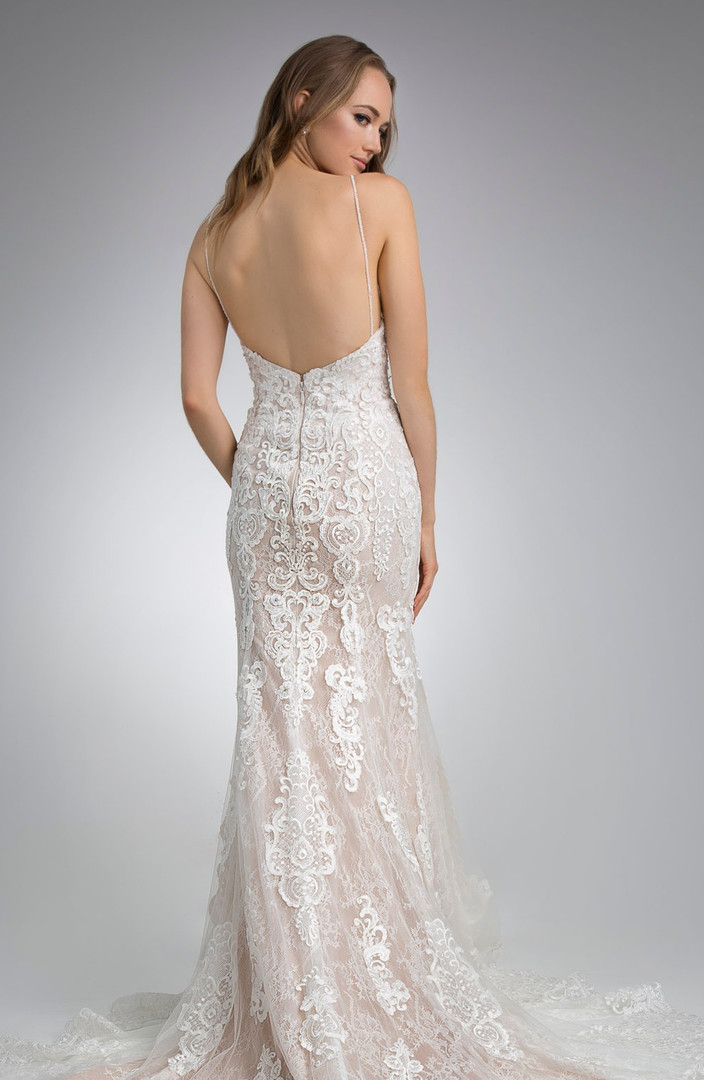 Flores Collection by Angel Rivera Bridal Gown Glamorous Strapless Back Detail