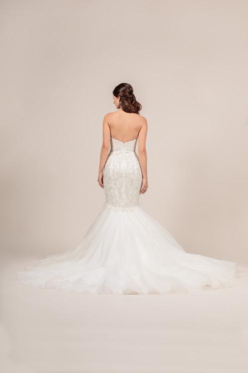 Angel Rivera Couture Glitz Gown Back