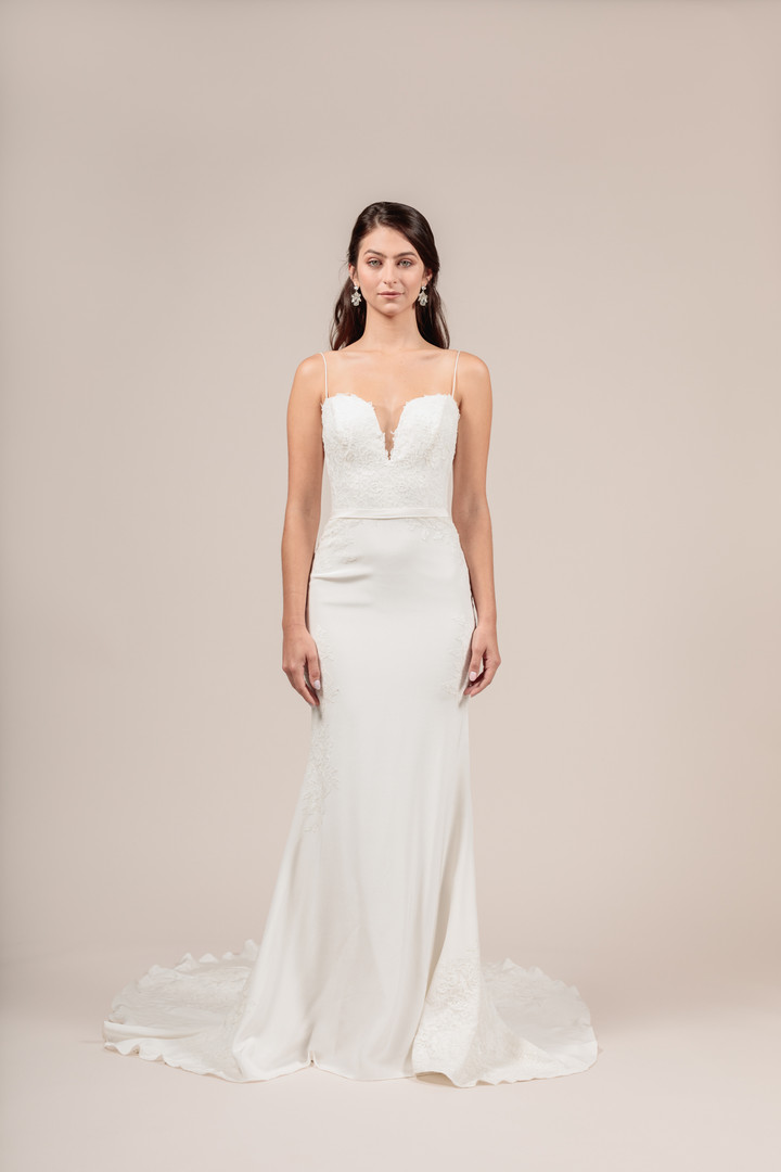 Angel Rivera Bridal Gown Beautiful front detail
