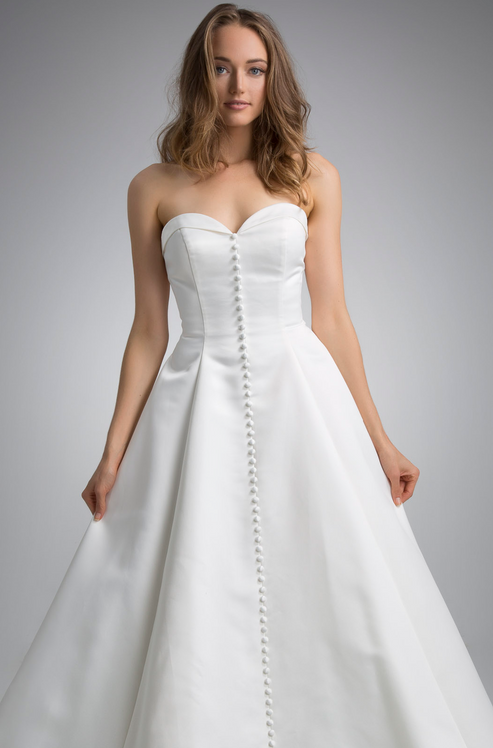 Flores Collection by Angel Rivera Bridal Gown Emily Front detail