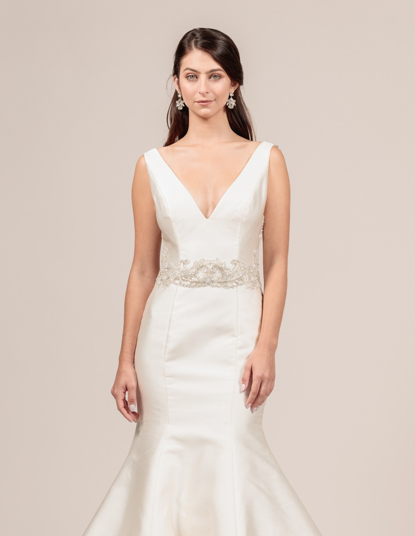 Angel Rivera Bridal Gown Sophisticated Front Detail