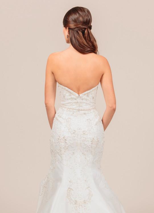 Angel Rivera bridal gown Opulent back detail