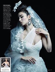 Inside Weddings Magazine styled shoot Avante garde gown