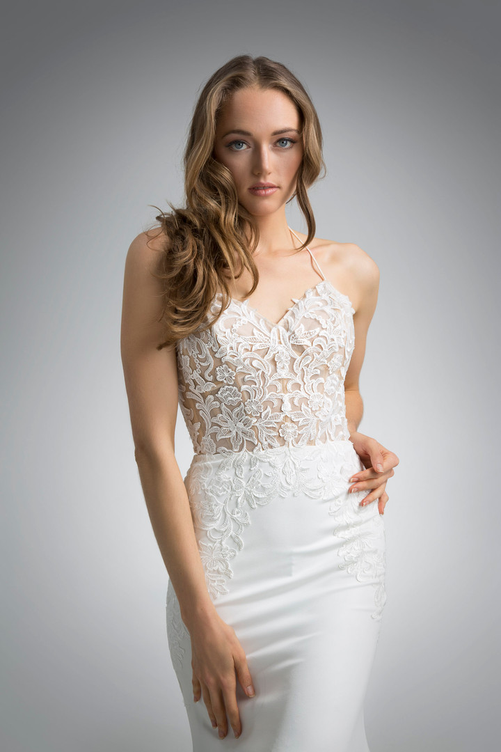 Flores Collection by Angel Rivera Bridal Gown Gia Front Detail