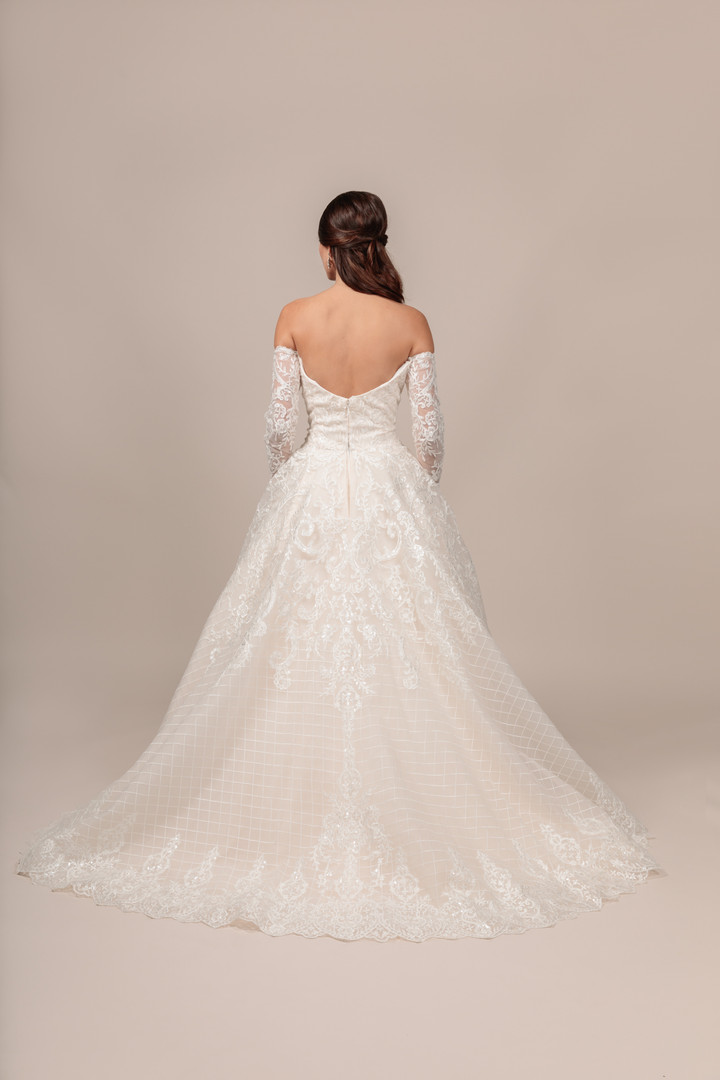 Angel Rivera bridal gown Gorgeous back