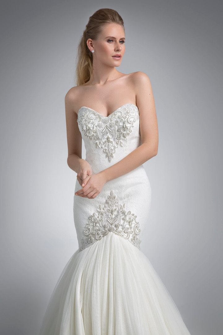 Angel Rivera Bridal Gown Gisselle Front Detail