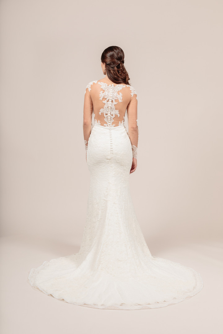 Angel Rivera Bridal Gown Perfection Back