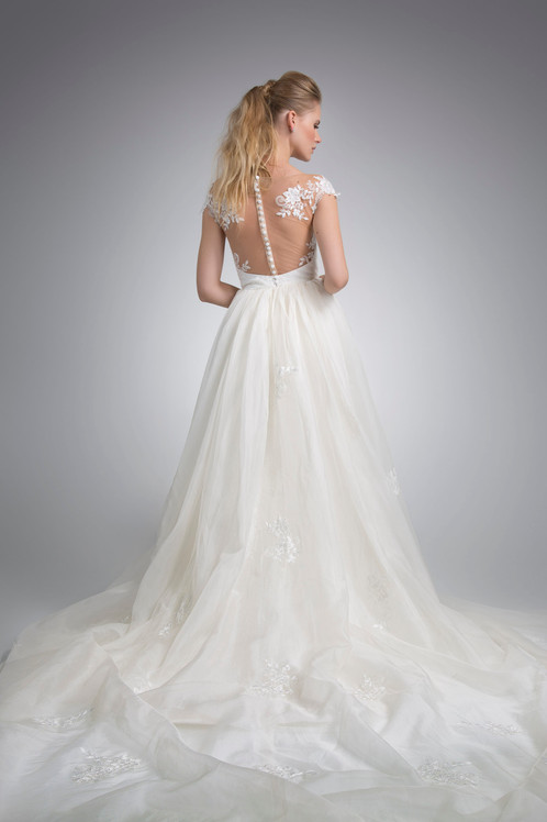 Angel Rivera Bridal Gown Ariana with detachable train